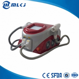 Hair removal IPL laser ND Yag beauty machine wtih 2 handles