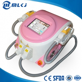 Portable IPL SHR hair removal machine with 2 handles