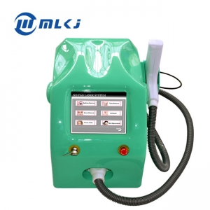 China Portable Q switched laser eyebrow tattoo removal device with 1320 532 1064 laser factory